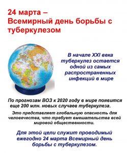 24 марта Всемирный день борьбы с туберкулезом
